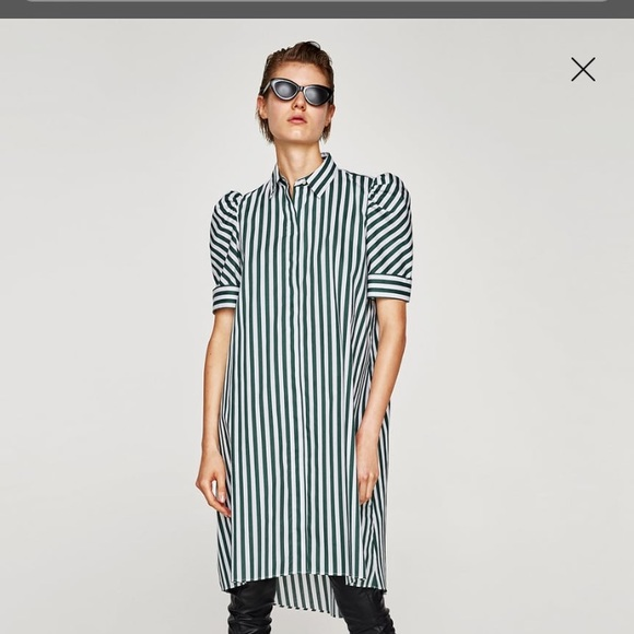 9a08f390 Zara Dresses | Nwt Striped Shirt Style Tunic | Poshmark